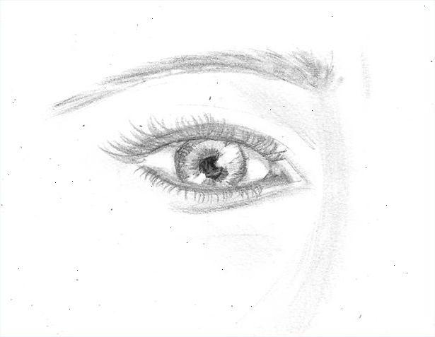 tegnede øjne